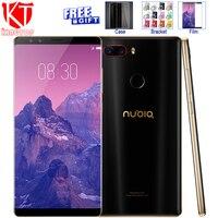 Oryginalny ZTE Nubia Z17S Z17 S Telefon komórkowy Snapdragon 835 6 GB RAM 64 GB ROM 5.73 cal NFC Smartfon Android 7.1 4 Kamery