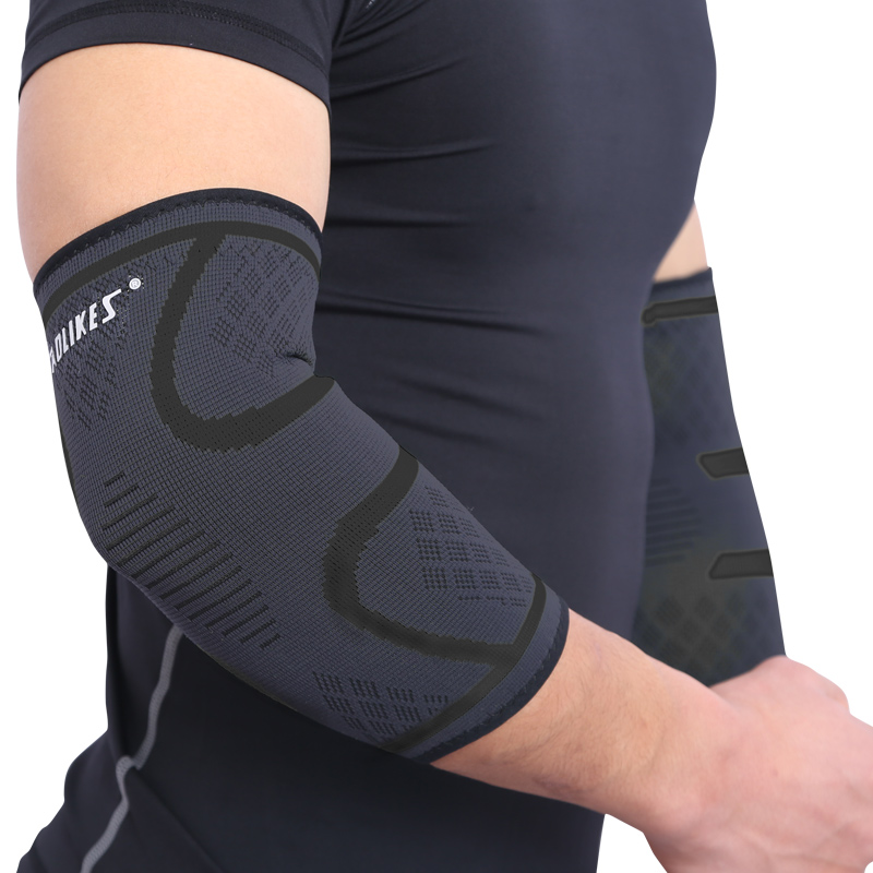 Codo mangas apoyo elástico gimnasio deporte codo almohadilla protectora absorber el sudor de manga de brazo Elbow Brace cotoveleira