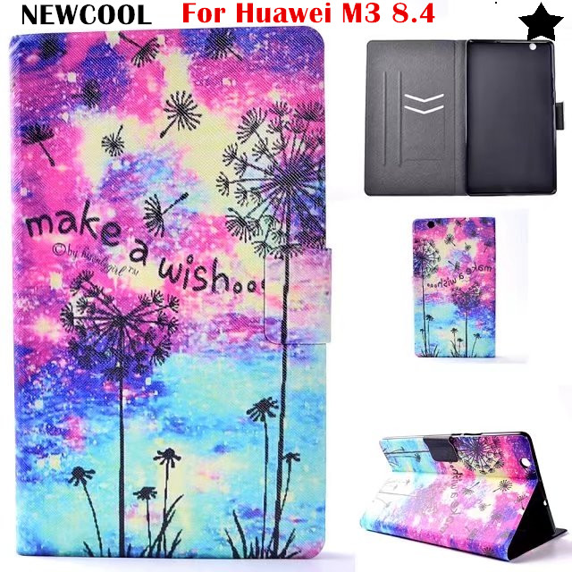 Flip Cover PU Leather case For Huawei MediaPad M3 BTV-W09 BTV-DL09 8.4 inch Tablet Case Smart Cover +Soft TPU Back Cover