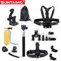 Gopro Accessories 11 in 1 Set Family Kit Chest Mount for Gopro hero 4 3 SJCAM SJ5000 Camera tripod for gopro xiaomiyi Camera