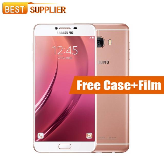 "2017 Original Samsung Galaxy C7 Pro C7010 4G RAM 64G ROM Fingerprint Octa Core 3300mAh 16.0MP NFC Android 6.0 5.7""Smartphone"
