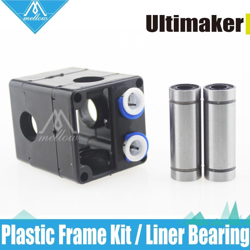 Ultimaker 2 + UM2 Extruder Hot End Plastic Frame Kit with 4 Long Screws and Liner Bear For 1.75/3.0mm Filament Olsson block kit