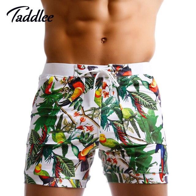 Taddlee Brand hombres trajes de baño Beach Board Shorts Boxer Trunks mar  Casual pantalones cortos secado fe895ed9b85