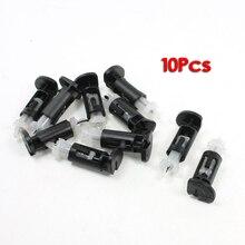 ホット10個プラスチック取付クリップヒートシンクインテル4方法cpuクーラー