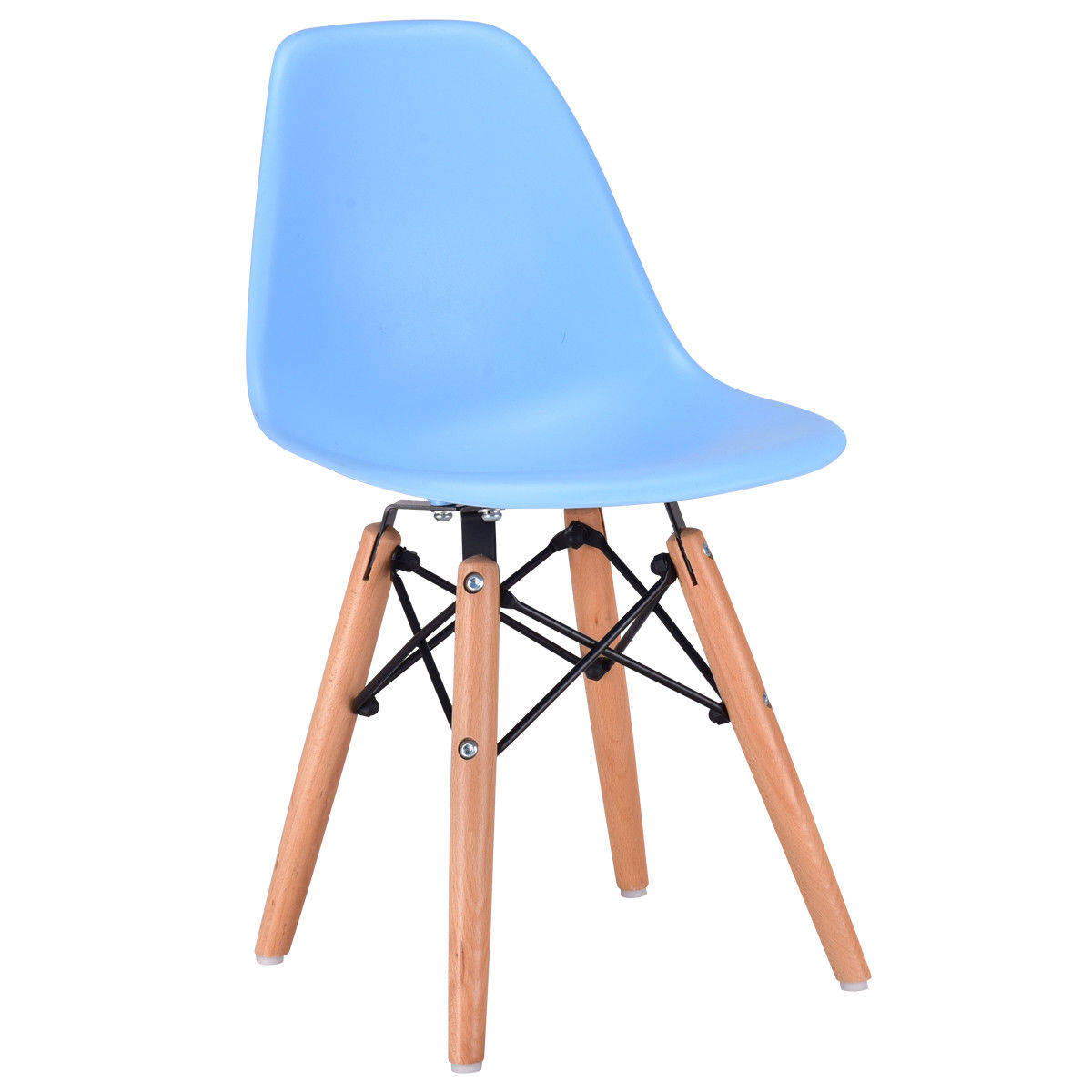Swell Us 39 99 Giantex Modern Kids Dining Side Armless Chair Blue Molded Plastic Seat Wood Legs Children Chairs Home Furniture Hw56499Ny On Aliexpress Machost Co Dining Chair Design Ideas Machostcouk
