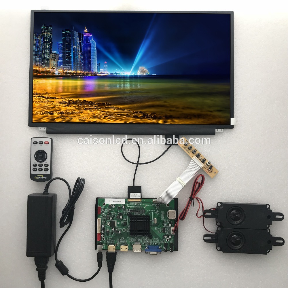 2HDMI+VGA+DP+Audio 4K LCD controller board support 17.3 inch lcd panel N173DSE-G31 with 3840*2160 touchstone teacher s edition 4 with audio cd