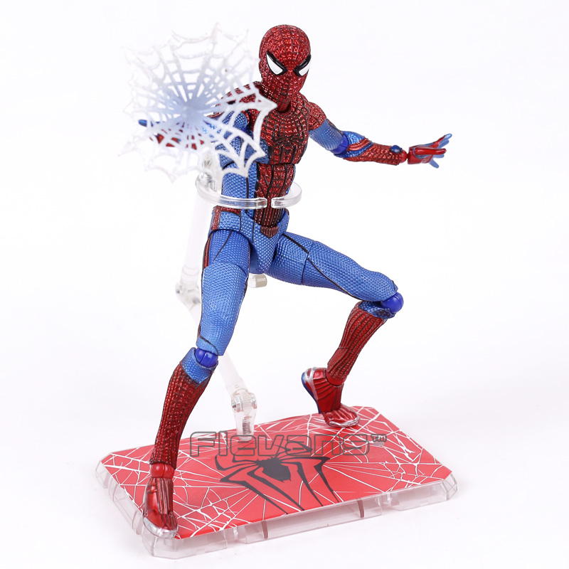 Spider-Man Homecoming The Amazing Spiderman 1/6 Scale PVC Action Figure Collectible Model Toy 26cm  funko pop official spider man homecoming spiderman new suit vinyl action figure collectible model toy with original box