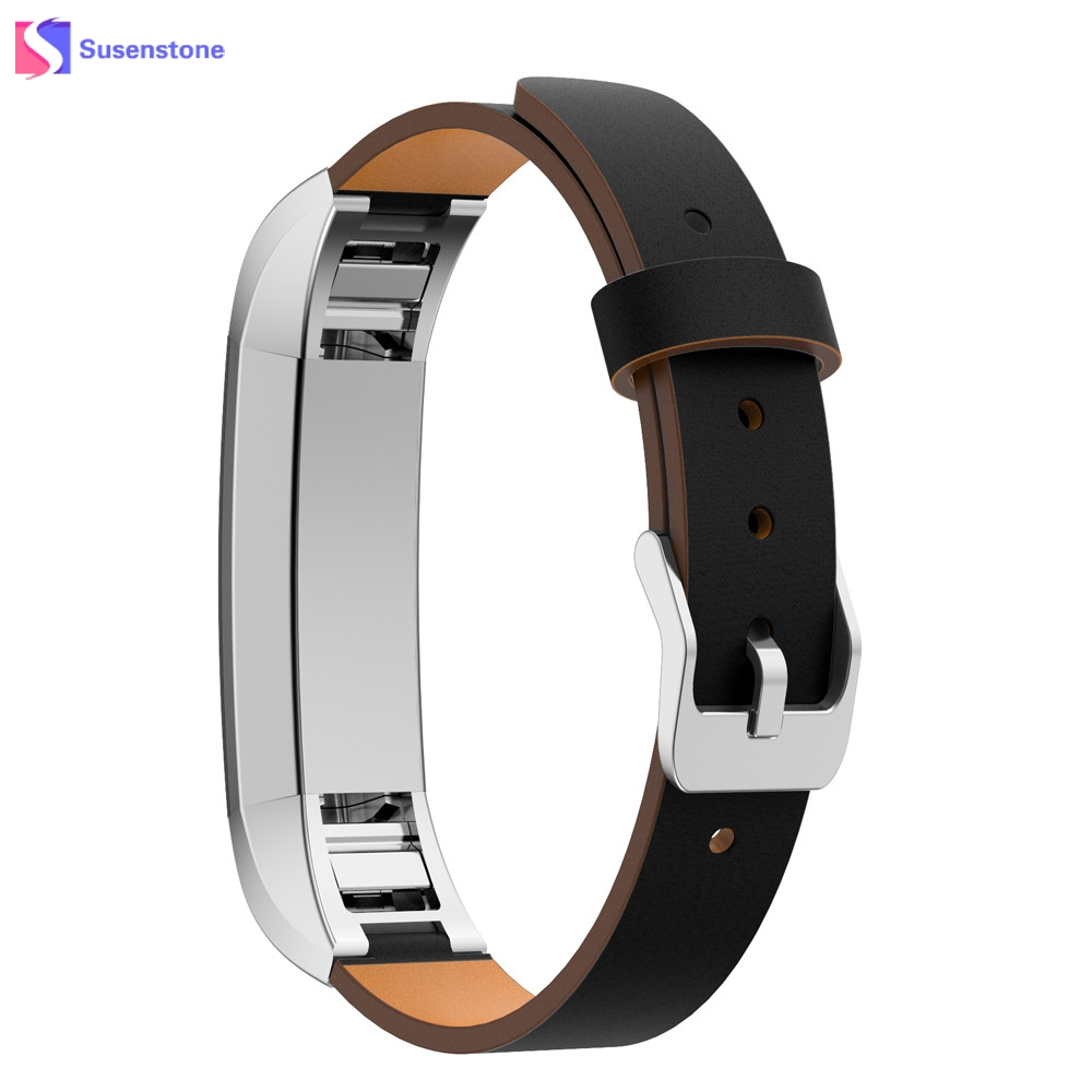 Luxury Genuine Leather Watch Band Strap Bracelet For Fitbit Alta Tracker Watchband Replacement High Quality Watchbands high quality stainless steel bracelet watchband strap for fitbit alta watch band wristband replacement band strap
