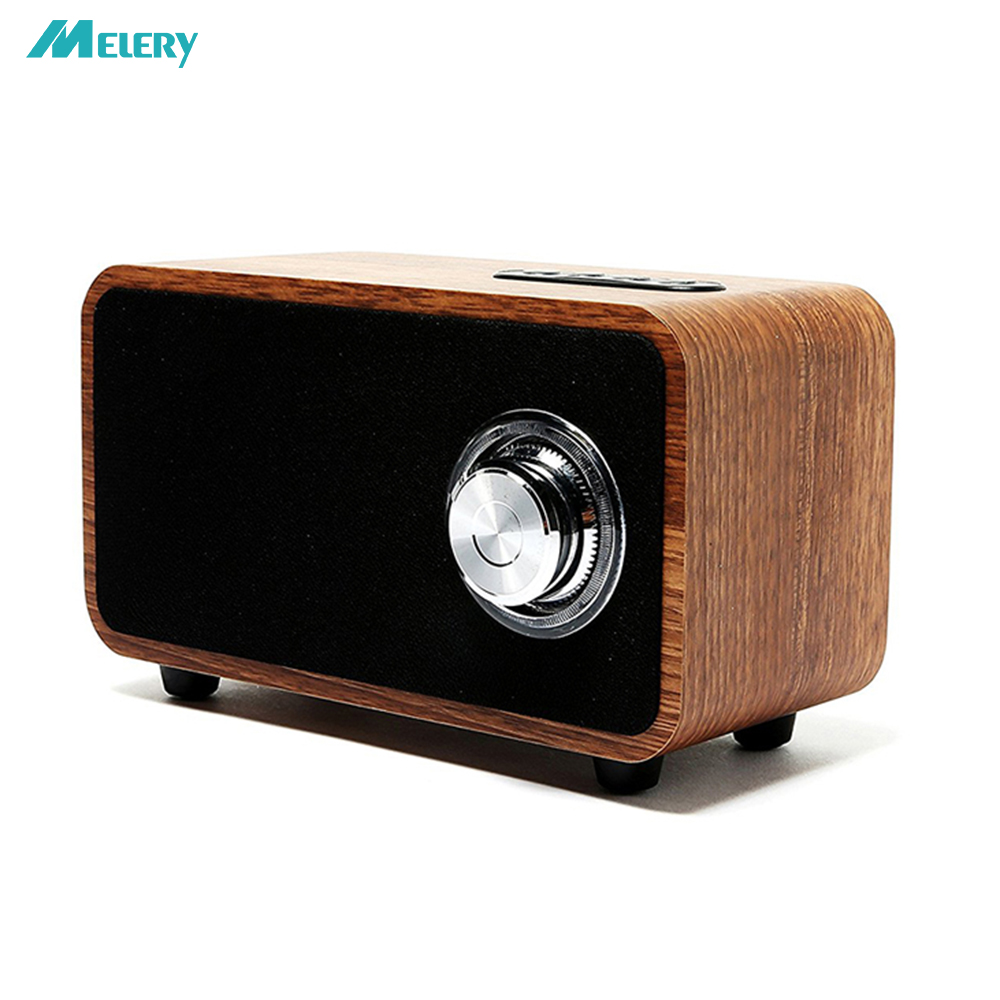 Wooden Bluetooth Speaker Super Bass Subwoofer Portable 3D Stereo 10Hour Playtime Enhanced FM Radio For Home