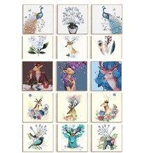 3 pieces  diamond painting DIY embroidery cross stitch 5D mosaic cartoon animal Christmas gift