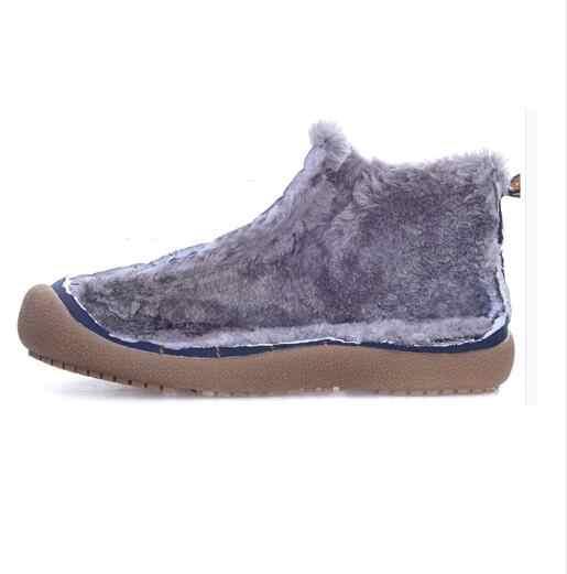 IPCCM/Новинка 2018 года; Мужская зимняя обувь; мужские теплые непромокаемые ботинки; Мужские Зимние ботильоны; большие размеры 45, 46