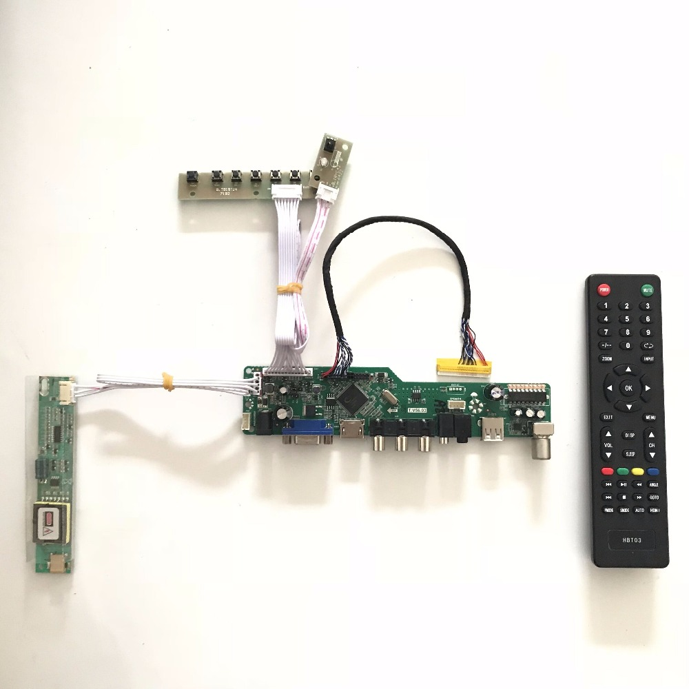 T.V56.03 with VGA HDMI AV Audio USB TV input driver Board support 15.4 inch 1280x800 CLAA154WA05A CCFL LVDS Monitor Kit DIY