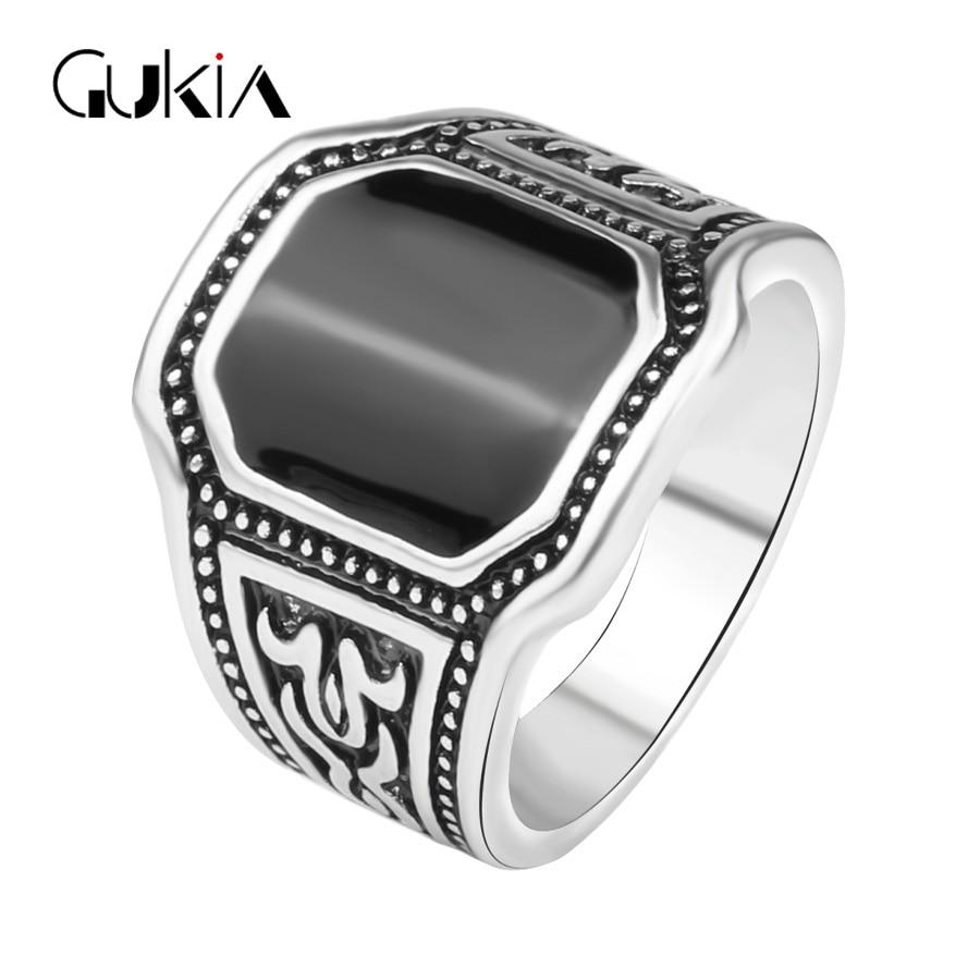 b4724f022fb9 Gukin 2016 nuevo anillo antiguo punky único plata chapado esmalte joyería  masculina 11.11 el mejor regalo para Navidad shippin libre