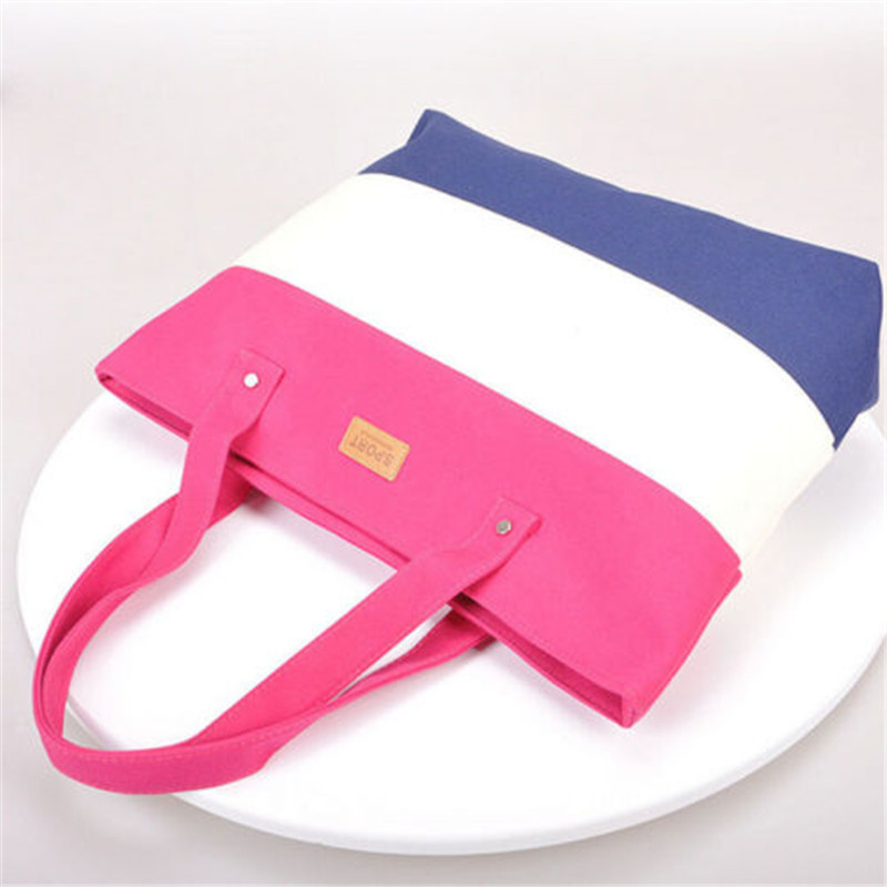 2017 New Mujer Summer Messenger Bag Beach Handbag Bags Brand Totes Women Ladies Stripes Canvas Shoulder Bag Drop Shipping N508 10