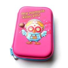 лучшая цена Kawaii Pencil Case School Cute Penal Pencilcase EVA Korean Waterproof Pen Bag for Kids Girls Boys Large Pouch Big Box Stationery