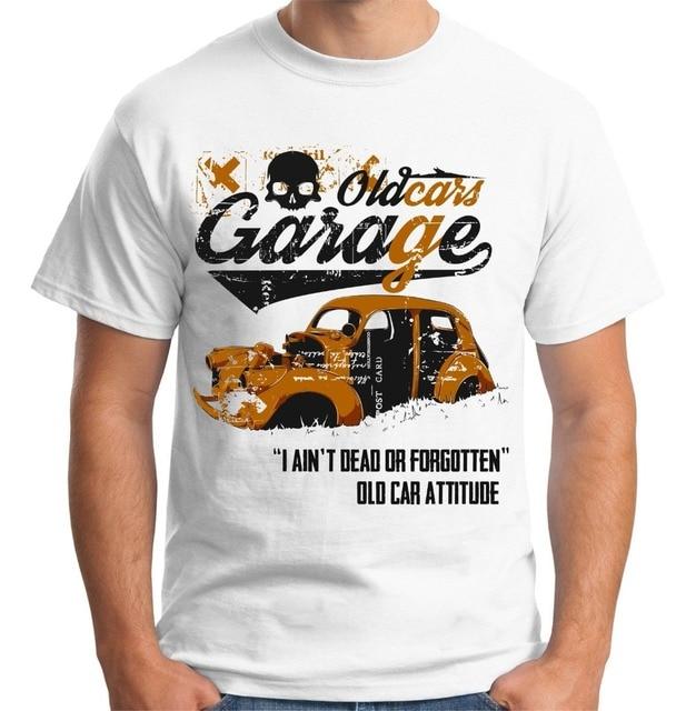8f1a037f34 Quality Shirts New Style Velocitee Mens Old Cars Garage T Shirt Mechanic  Vintage Car Rusty Wreck Men Streetwear T-Shirt