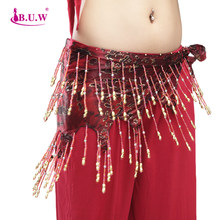 Bellydance Costume Real Women Cotton B.u.w Brand 2018 New Belly Dance Waist Chain Women's All-match Decoration Belt 9853(China)