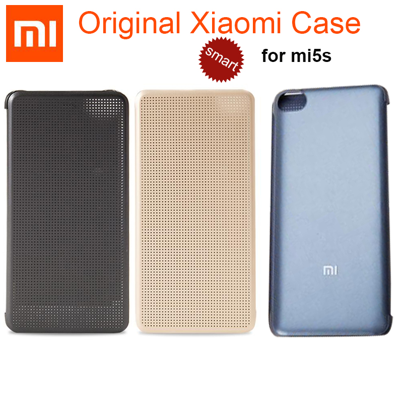 """bilder für 100% Original Xiaomi Mi5S Flip Fall 5,15 """"offizielle Pu-leder Abdeckung für Xiaomi 5 Mi 5 mi5s 5 S M5S Smart Fall Aufwachen Zurück Abdeckung"""