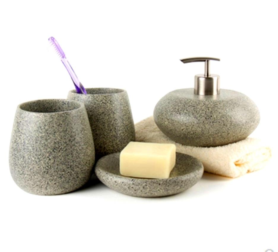 decotalk nordic style bathroom accessories set resin bathroom 4 pieces set supplies kits hotel bathroom set