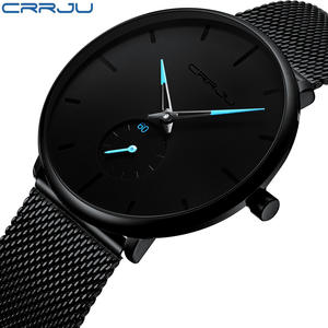 Crrju Men Steel Waterproof Relogio Masculino b1d9438772797