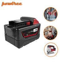 Batería de herramienta de iones de litio powtree 9.0Ah para milkion M18 48-11-1815 48-11-1850 repalcemento M18 batería 2646-20 2642-21CT L3