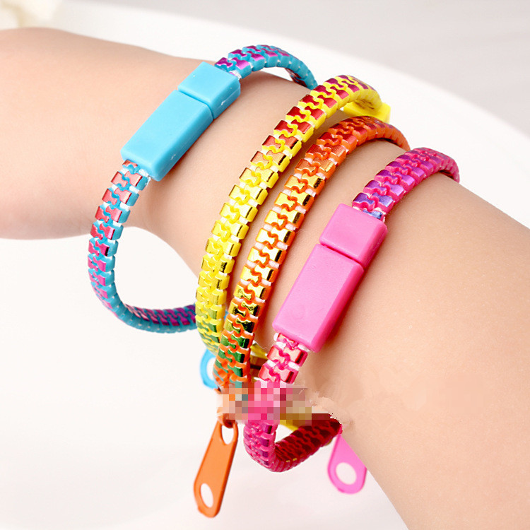 10 Pcs Colourful Zipper Bracelet Creative Students Por Adorn Article Fashioin Bracelets Bangles For Women And Men In Charm From Jewelry