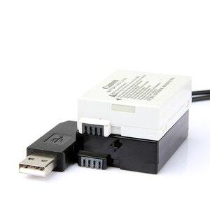Image 2 - 5V USB ACK E8 DR E8 LP E8 Power Adapter Drive Cable dummy battery DC Coupler for Canon EOS 550D 600D 650D 700D T2i T3i T4i X4 X5
