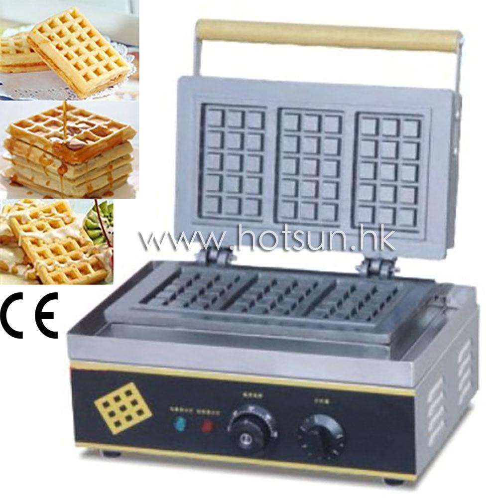 110V 220V Electric Waffle Belgian Liege Waffle Baker Maker Machine Iron 2 heads 110v 220v electric belgian liege waffle maker baker machine iron