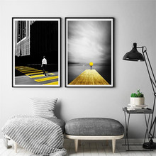 Nordic Scenery Wall Art Canvas Painting Modern Poster Room Decor Pictures