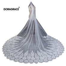 Doragrace Gorgeous 1 Tier Cathedral Lace Wedding Bridal Veil With Comb