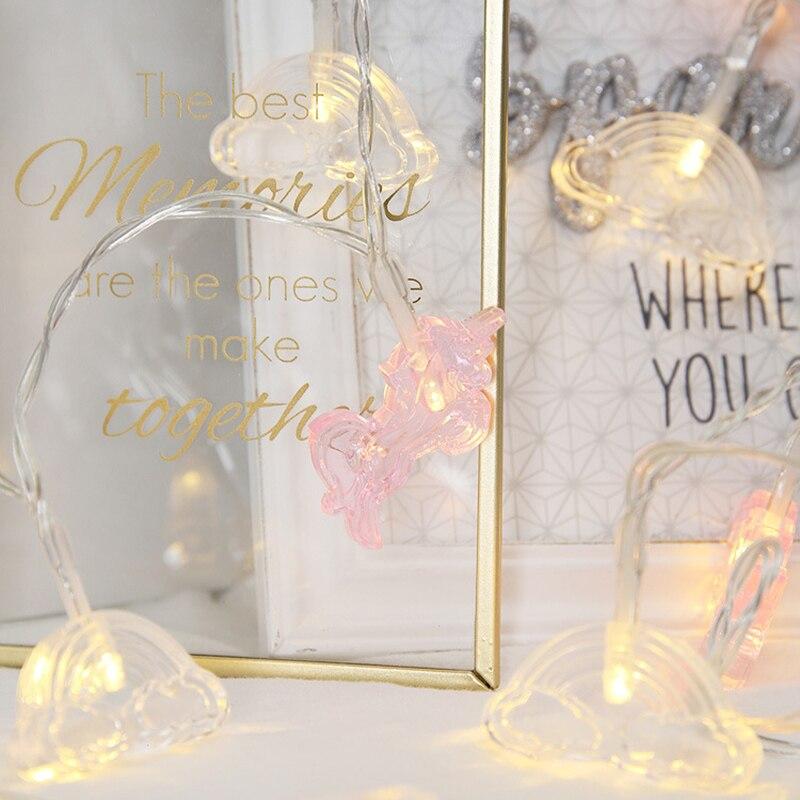 10 LED Lantern String Lights hoiliday light for Bedroom Battery Powered Rose Gold Light Cloud shape