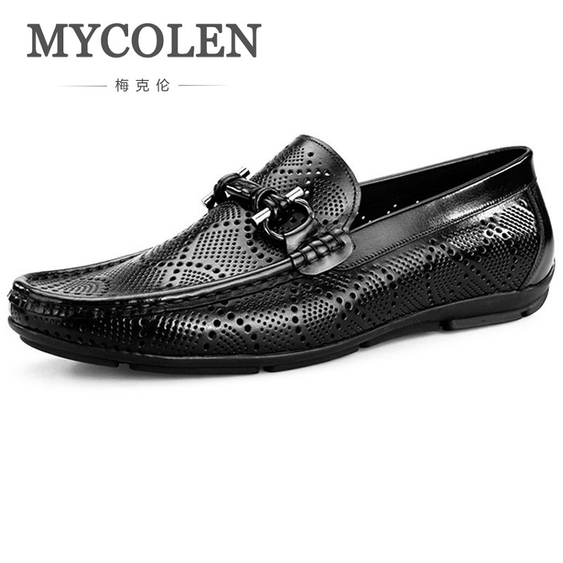 MYCOLEN 2018 New Style High Quality Breathable Men Shoes Genuine Leather Party Dress Shoes Men Business Brand Men Shoes mycolen new fashion men shoes genuine leather men dress shoes high quality comfortable men s business gentleman shoes man