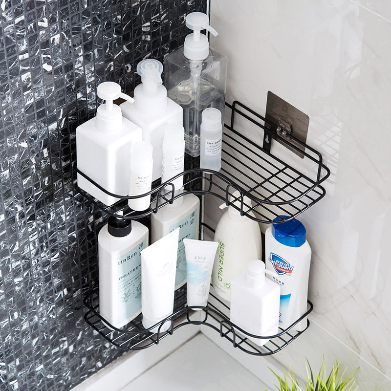 Punch-free corner rack bathroom vanity bathroom without wall hanging tripod storage rack