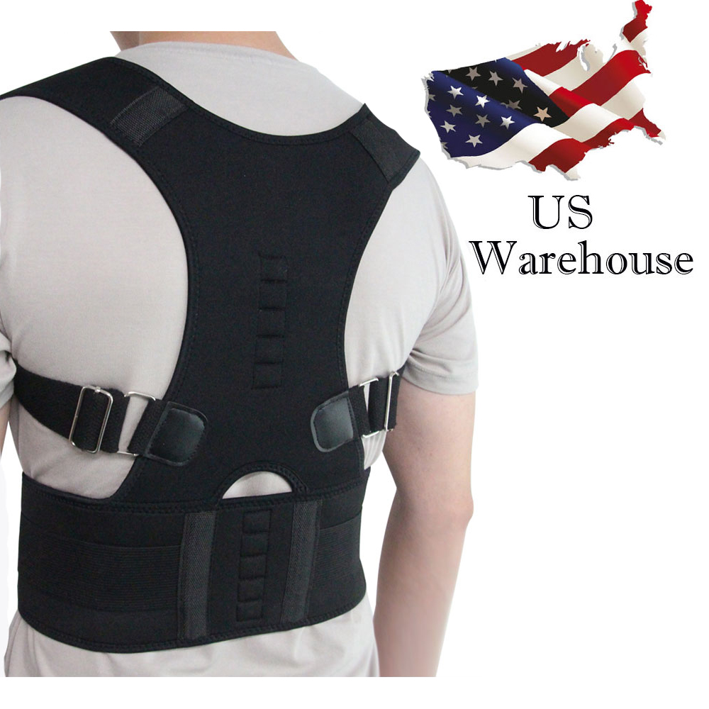 Aptoco terapia magnética Corrector de postura Brace hombro correa de soporte para ortesis y soportes cinturón de seguridad del hombro postura de Stock