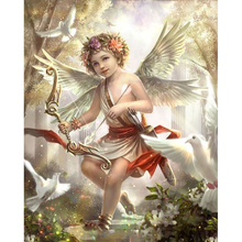 5d diamond Embroidery little angel diy painting cross stitch for children puzzle mosaic crafts Y2615