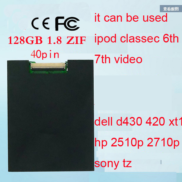 NEW 1.8inch ce/zif SSD 64GB solid state drivese For iPod Classic 3Gen 160GB REPLACE MK1634GAL MK1231GAL HS12YHA MK8022GAA new 1 8inch ce zif ssd 128gb solid state drivese for ipod classic 3gen 160gb replace mk1634gal mk1231gal hs12yha mk8022gaa