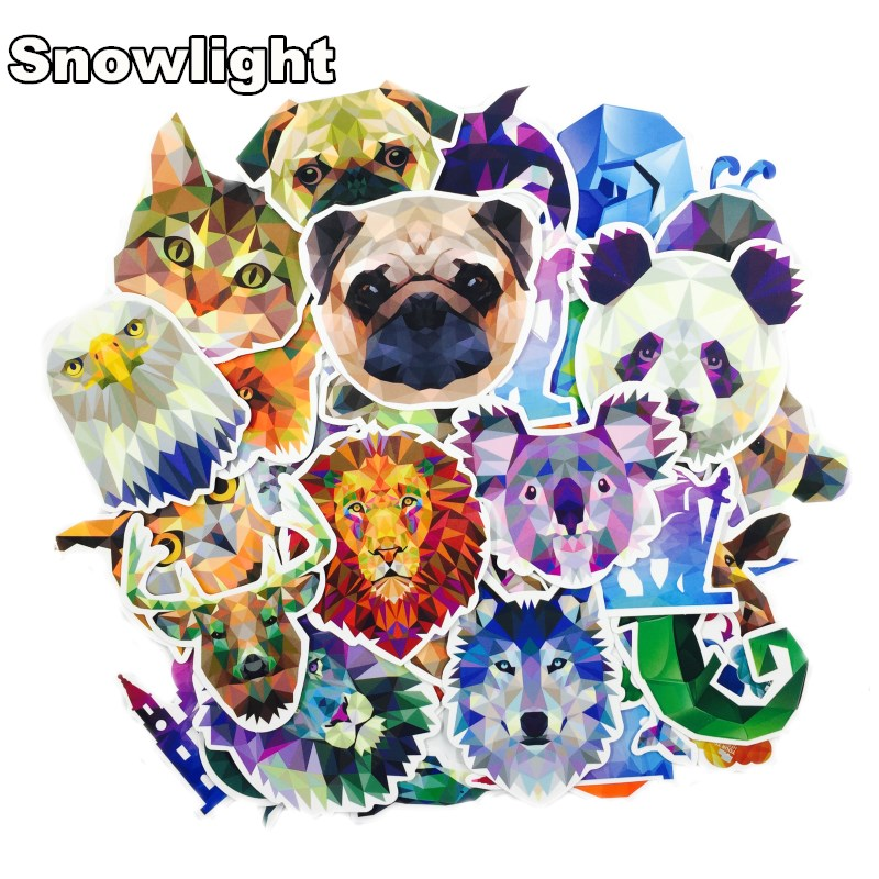 35 Pieces/lot Galaxy Color Animal Stickers Mixed Funny For Car Laptop Bicycles Backpack Notebook DIY Waterproof Stickers