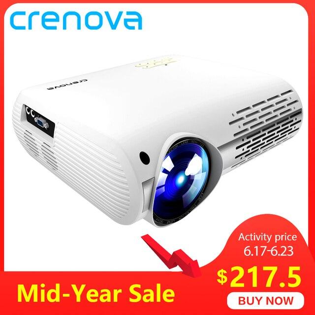 CRENOVA najnowszy rzutnik dla Full HD 4 K * 2 K kina domowego projektor z 5G WIFI Android 6.0 system operacyjny 6500 lumenów projektor Proyector