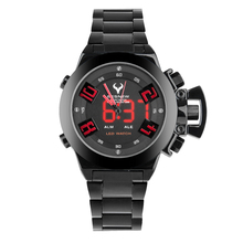 BESNEW Marcas Puntero LED de doble Pantalla Electrónica Relojes de Alto grado de Los Hombres Grandes de Dial Moda Hombre relojes de Pulsera de Cuarzo Electrónico