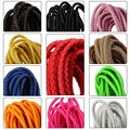 5 Meter/lot 6mm Round PU Leather Cord Multicolors Braided Cordon Cuir Fitting DIY Bracelets Necklace Jewelry Making Findings