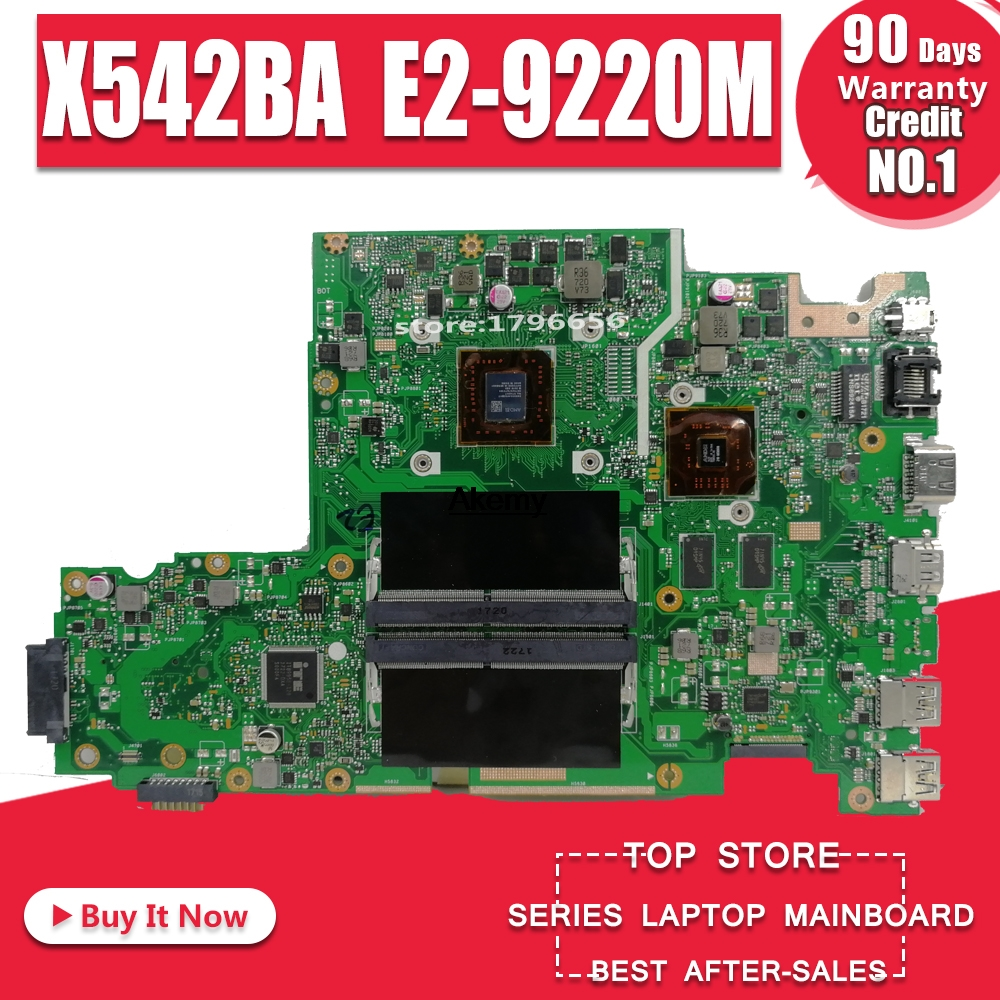 X542BA <font><b>laptop</b></font> motherboard For ASUS X542B X542BP A580B K580B Mainboard 100% test 4GB <font><b>RAM</b></font> E2-9220M CPU image