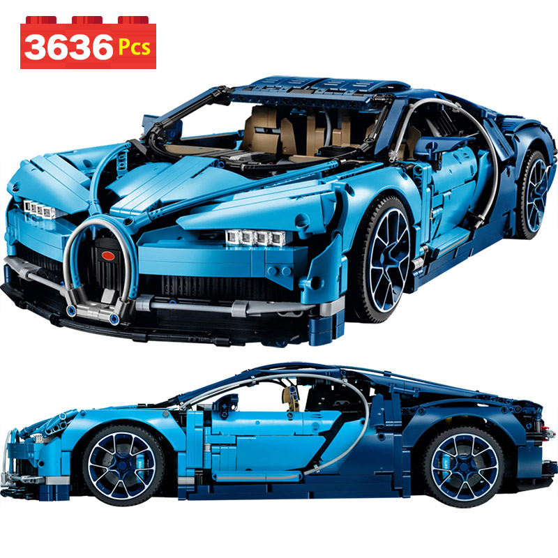 Livraison sûre LegoINGLYS Technic la voiture de course Bugatti Chiron définit des blocs de construction modèles briques jouets pour enfants cadeau d'anniversaire