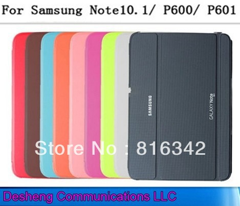 Book Cover Samsung Galaxy Note 10.1 2014 Edition Business 3 Folding Stand Leather Case P600 P601 + Free LCD Guard/Stylus - Desheng (HK store Trading Co., Ltd.)