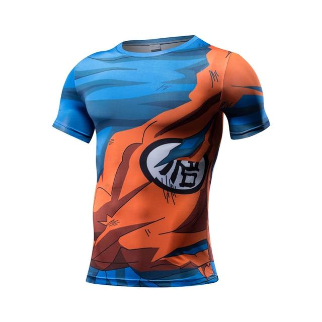 New fashion anime Dragon Ball Z character Vegeta Goku Saiyan 3D t shirt men harajuku cartoon t shirt casual tee tops cosplay