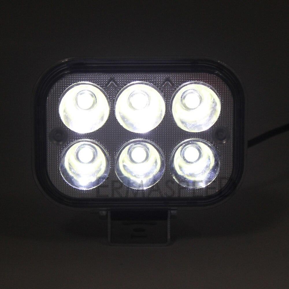 LED Spot Light Square Mootorratas 1300 Lumen valge Värviline - Mootorrataste tarvikud ja osad - Foto 3