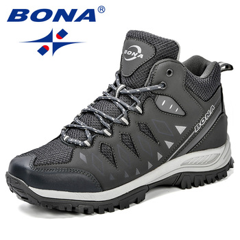 BONA New Design Men Shoes Mountain Big Size Brand Anti-Slippery Hiking  Comfortable Outdoor Jogging
