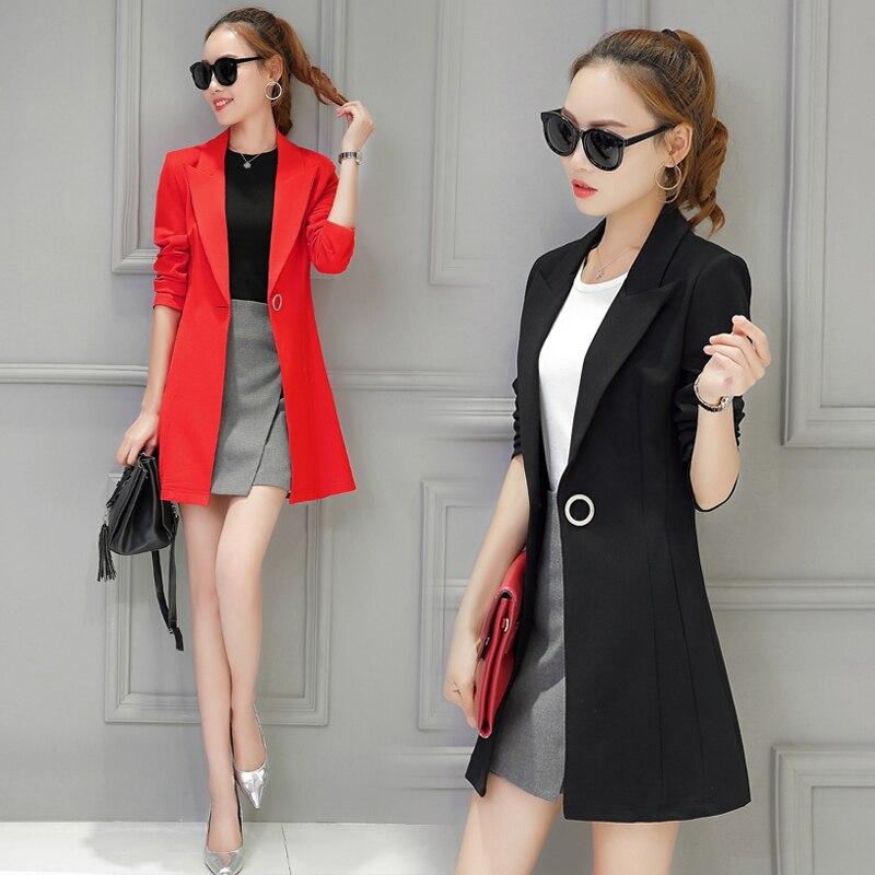 New Plus Size Womens Business Suits Spring Autumn All match women Blazers Jackets Short Slim long sleeve Blazer Women Suit