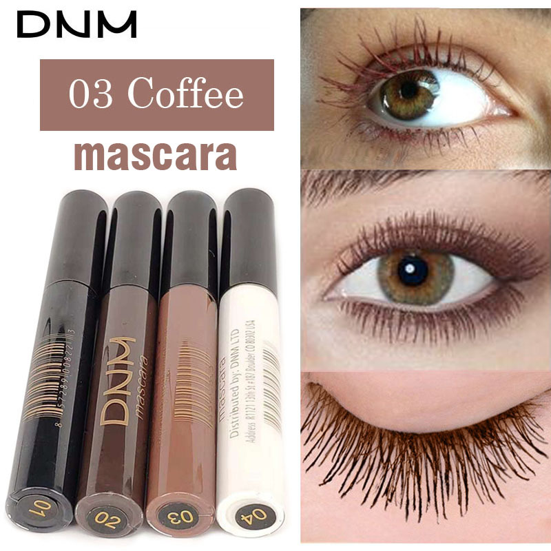 Natural Eye Lash Extension Colorful Mascara Makeup Party Festival Black Brown White Color Waterproof Curling Mascara Eyes Tools image