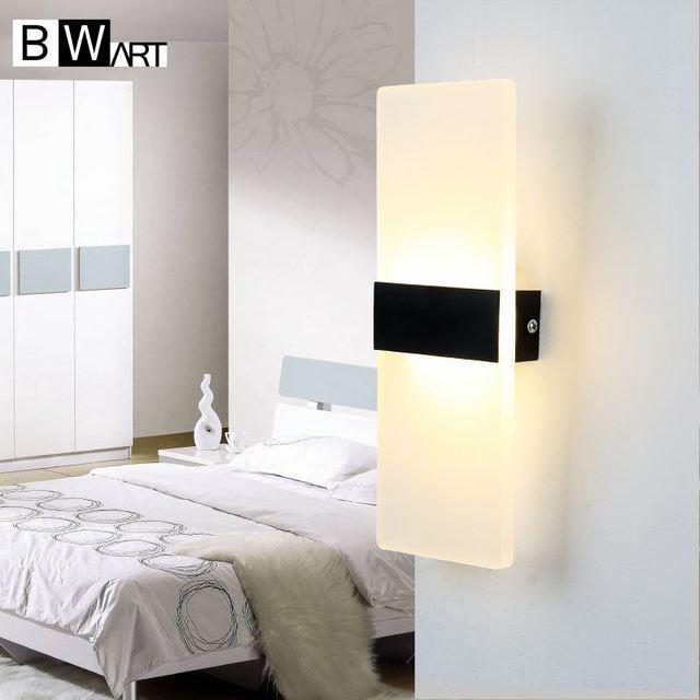 BWART 2017 Hot selling Saving energy Simple rectangular LED living room bedroom aisle wall lamp