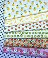 Fresh Fruit Family Banana Pineapple Peach Watermelon Cherry Kiwi Printed 100% cotton twill cotton Fabric quilting home decor pat
